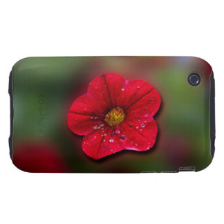 Red Flower Blur Tough iPhone 3 Covers