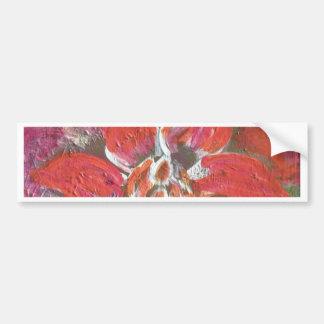 Red Flower Bumper Sticker