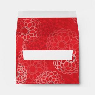 Red Flower Burst Design Envelopes