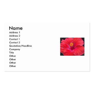 Red Flower Business Card
