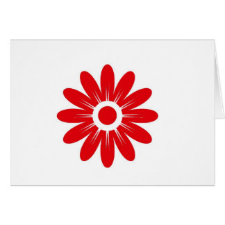 Red flower card