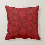 Red Flower Carousel American MoJo Pillows