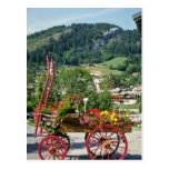 Red Flower cart in summer, Le Grand Bornard, Franc Postcard