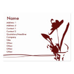Red Flower - Chubby Business Cards