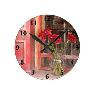 Red Flower Clock (medium)