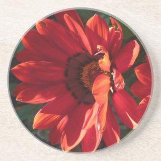 Red Flower - Coaster / Untersetzer