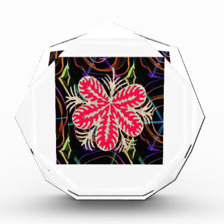 RED Flower Custome Template ADD Text move img fun Acrylic Award