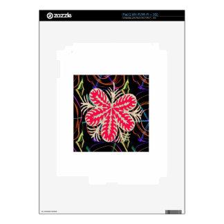RED Flower Custome Template ADD Text move img fun iPad 2 Skin