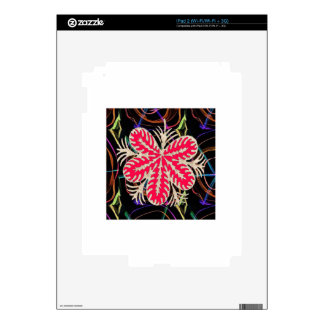 RED Flower Custome Template ADD Text move img fun Skin For The iPad 2