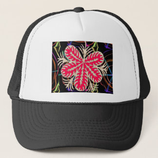 RED Flower Custome Template ADD Text move img fun Trucker Hat
