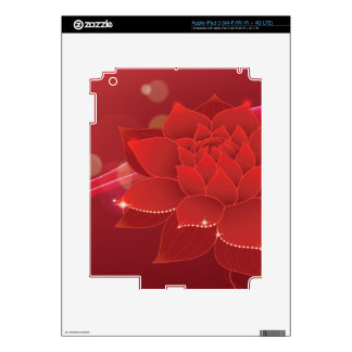 Red Flower Dream Decal For iPad 3