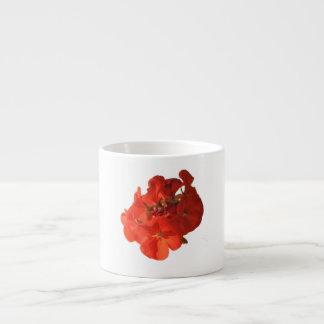 Red Flower Espresso Mug