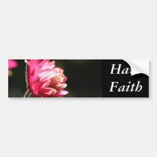 Red Flower Faith Inspirational Bumper Sticker Car Bumper Sticker