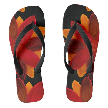 Beach Themed Red flower flipflops