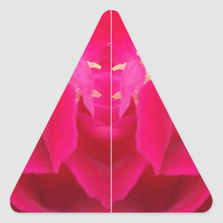 red flower funky color triangle sticker