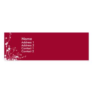 Red flower garden - skinny business card template