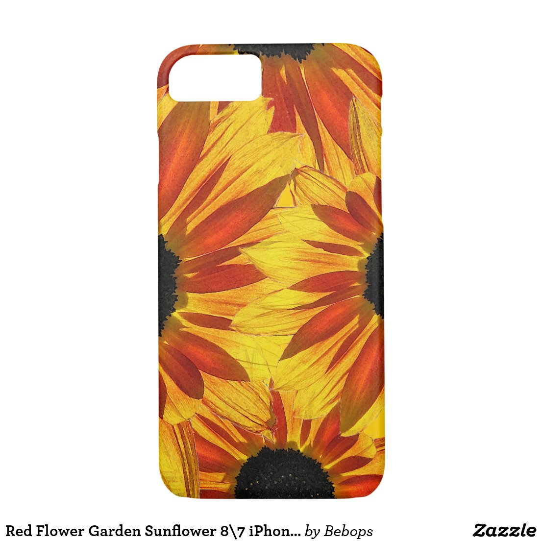 Red Flower Garden Sunflower Abstract iPhone 7 Case