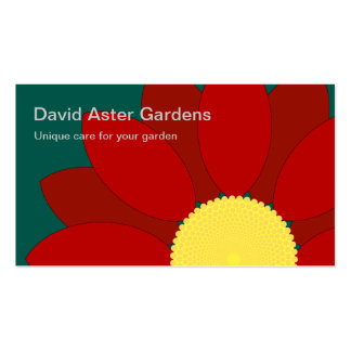 Red Flower Gardening Business Card