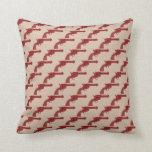 Red Flower Gun Pillows