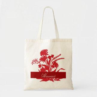 Red flower Hawaii reusable souvenir bag