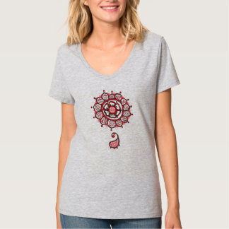 Red Flower (henna inspired) T-Shirt