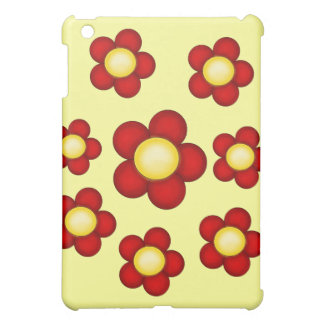 Red Flower I Pad case iPad Mini Covers