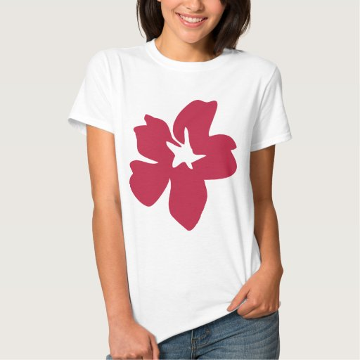 red flower icon t shirt