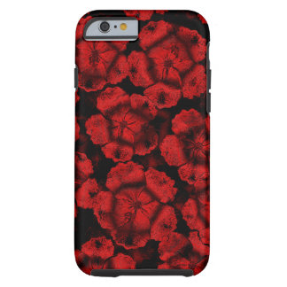 Red Flower illusion iPhone by Valxart Tough iPhone 6 Case