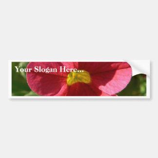 Red Flower In The Grass Car Bumper Sticker
