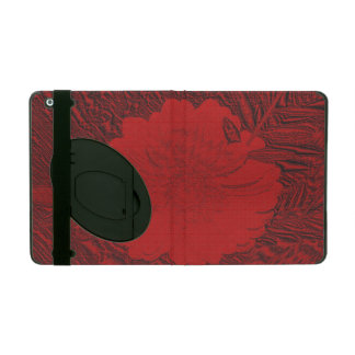 red flower iPad cases