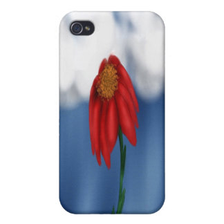 Red Flower iPhone 4/4S Cases