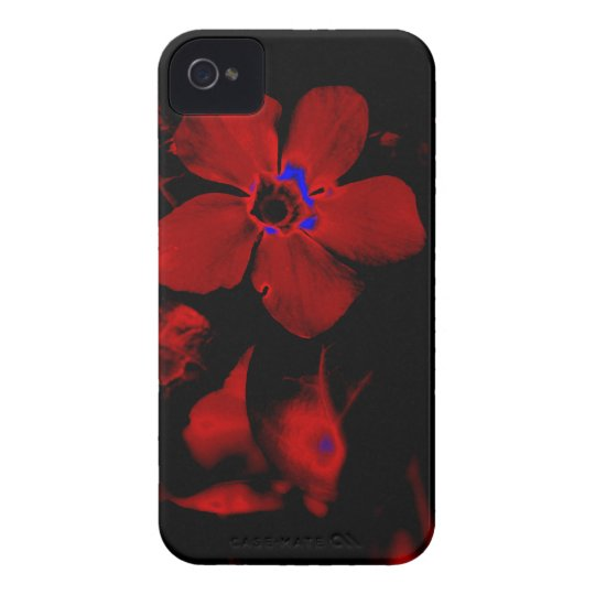 Red Flower iPhone 4 Case
