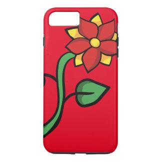 Red flower iPhone 8 plus/7 plus case