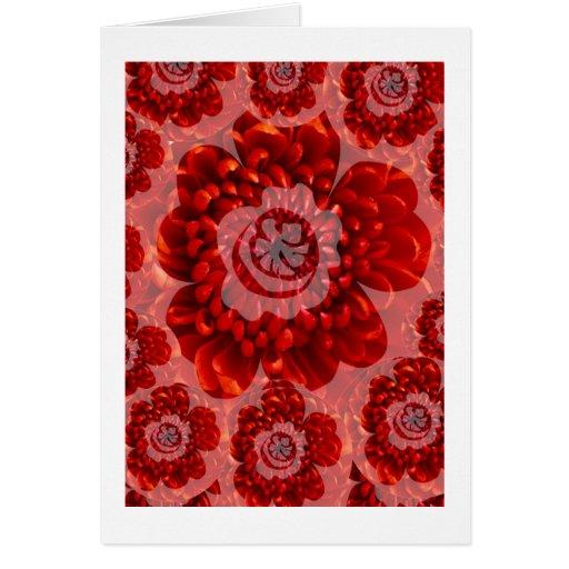 Red Flower Journey - Fantasy Worship World Greeting Card