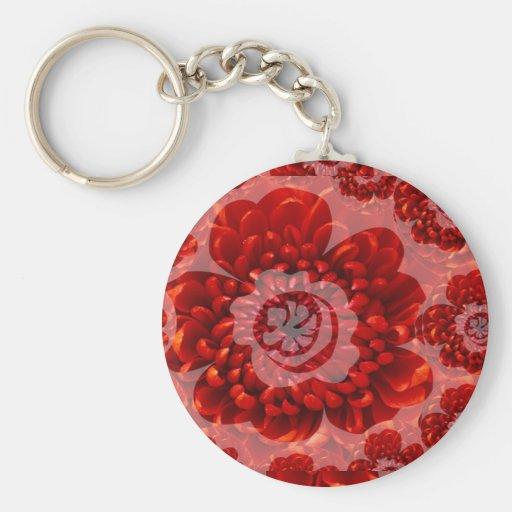 Red Flower Journey - Fantasy Worship World Basic Round Button Keychain