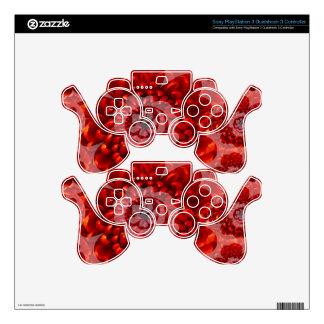 Red Flower Journey - Fantasy Worship World PS3 Controller Decals