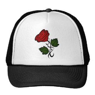 Red Flower Kiss Trucker Hat