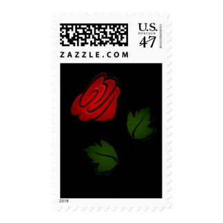 Red Flower Kiss US Postage Stamp
