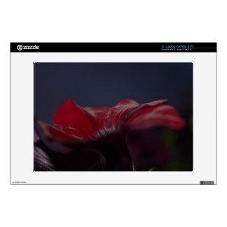 red flower laptop or MacBook skin