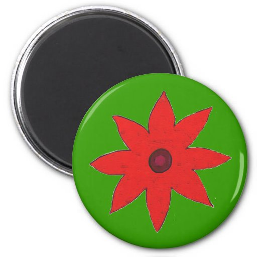 red flower magnet