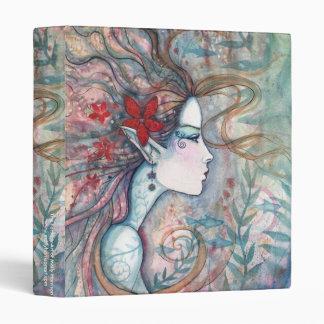 Red Flower Mermaid Binder by Molly Harrison