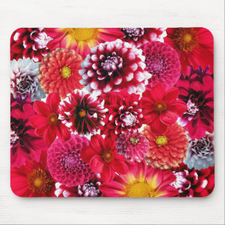 Red Flower Mix Mouse Pad