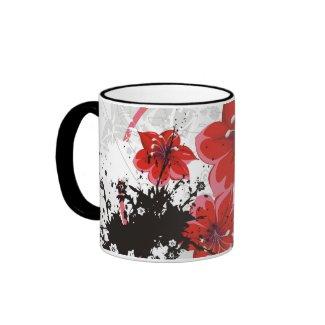 Red Flower Mug mug