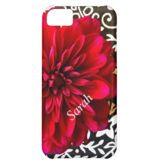 red flower on bandana iPhone 5 Vibe case Cover For iPhone 5C