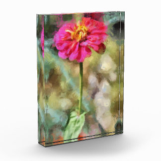 Red flower painting award