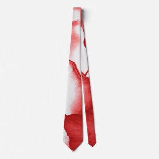 Red Flower Petals Neck Tie