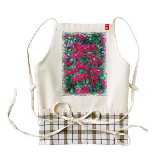 Red Flower photo painting Zazzle HEART Apron