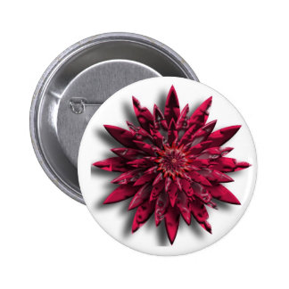 red flower pinback button