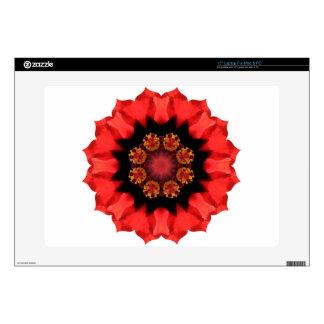 "Red Flower Pizazz! Skins For 15"" Laptops"