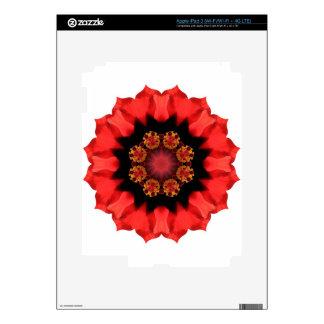 Red Flower Pizazz! Skin For iPad 3